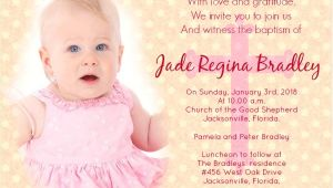 Sample Of Baptismal Invitation Baptism Invitation Wording Samples Wordings and Messages