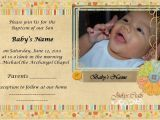 Sample Of Baptismal Invitation Card Baptism Invitation Baptismal Invitation Card Baptism