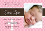 Sample Of Baptismal Invitation for Baby Girl Baby Baptism Invitations Baby Christening Invitations