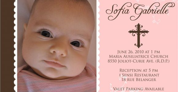 Sample Of Baptismal Invitation for Baby Girl Baptism Invitations for Girl Baptism Invitation Template