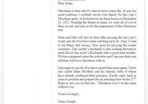 Sample Of Invitation Letter for Christmas Party Christmas Invitation Letter – Free Sample Letters