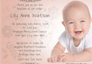 Sample Picture Of Baptismal Invitation Baptism Invitation Wording – Gangcraft