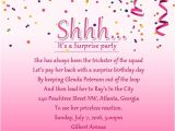 Sample Surprise Birthday Party Invitation Surprise Birthday Party Invitation Wording Wordings and