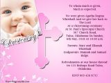 Sample Text for Baptism Invitation Christening Invitation Text Cobypic