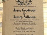 Sample Wedding Invitation Template Rustic Wedding Invitations Templates