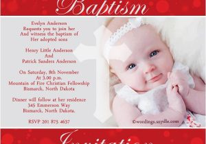 Samples Of Baptism Invitations Baptism Invitations Wording – Gangcraft