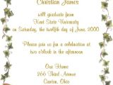 Samples Of Graduation Party Invitations Graduation Party Invitation Wording Samples Cimvitation