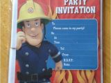 Sams Club Party Invitations 20 X Fireman Sam Birthday Party Invitations Invites with