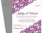 Sangria Color Wedding Invitations Lace Wedding Invitation Template 5 X 7 Vintage Lace