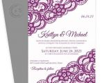 Sangria Color Wedding Invitations Lace Wedding Invitation Template 5 X 7 Vintage Lace