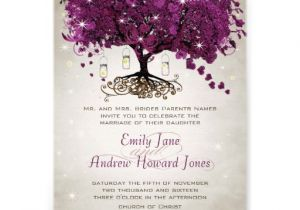 Sangria Color Wedding Invitations Mason Jar Sangria Heart Leaf Firefly Tree Wedding Custom