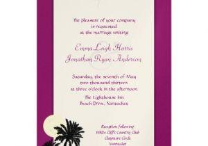 Sangria Color Wedding Invitations Moonlight Palms Sangria Wine Wedding Invitation Zazzle