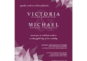 Sangria Color Wedding Invitations Sangria Grape Floral Wedding Invitations Zazzle