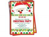 Santa Birthday Party Invitations Santa Claus Invitation Santa Birthday Party Invitation