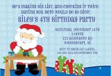 Santa Claus Party Invitations Christmas Santa Claus Birthday Party Invitations