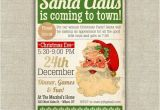 Santa Claus Party Invitations Printable Santa Christmas Party Invitation Diy