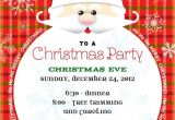 Santa Claus Party Invitations Santa Claus Christmas Party Invitation
