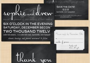 Save the Date and Wedding Invitation Packages Items Similar to Premium Chalkboard Wedding Invitation
