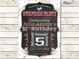 Save the Date Invitation Wording for Birthday Party Birthday Party Save the Date Invitation Card by Delartdesigns