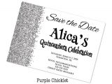 Save the Date Invitation Wording for Birthday Party Save the Date Quinceañera Celebration Birthday by