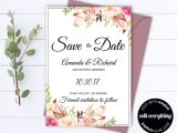 Save the Date Vs Wedding Invitations Floral Save the Date Wedding Template D and Save the Date
