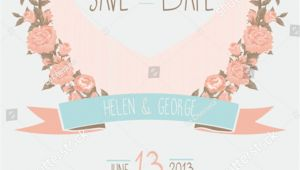 Save the Date Wedding Invitation Template Vector/illustration Save Date Wedding Invitation Shabby Chic Stock Vector
