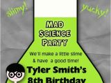 Science themed Party Invitations 3 Fine Mad Science Birthday Party Invitations