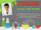 Science themed Party Invitations Free Printable Mad Science Birthday Party Invitations