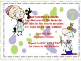Science themed Party Invitations Mad Science Birthday Party Invitations Oxsvitation Com