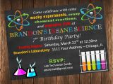 Science themed Party Invitations Science Birthday Party Invitations Oxsvitation Com