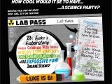 Science themed Party Invitations Science themed Birthday Invitation Mad Scientist Party