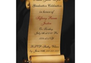 Scroll Graduation Invitations Elegant Scroll Graduation Party Invitation Zazzle