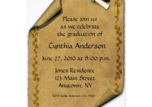 Scroll Graduation Invitations Parchment Scroll Graduation Invitation 5 Quot X 7 Quot Invitation