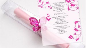 Scroll Invitations for Quinceaneras Quinceanera Scroll Invitations Kit butterflies Box