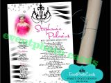 Scroll Tube Quinceanera Invitations Scroll Invitations Zebra