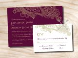 Scroll Wedding Invitations with Rsvp Cards Paisley Scroll Fleurish Wedding Invitation Response Card