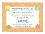 Sea Life Baby Shower Invitations 5×7 Sea Life Ocean Fish Baby Shower Invitation