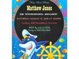 Sea Life Birthday Party Invitations Colorful Boys Sea Life Birthday Chalkboard Invites