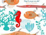 Sea Life Birthday Party Invitations Ocean Party Invites Under the Sea Birthday Party Boy