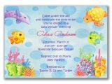 Sea themed Baby Shower Invitations Beach Baby Shower Invitations