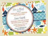 Sea themed Baby Shower Invitations Boy Baby Shower Invitation Under the Sea Baby Shower Sea