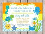 Sea themed Baby Shower Invitations Printable Personalized Under the Sea Invitations for