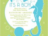 Sea themed Baby Shower Invitations Sea and Ocean theme Baby Shower Invitation Custom Boy