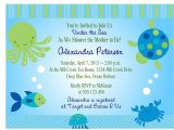 Sea themed Baby Shower Invitations Under the Sea Baby Shower Invitation Printable Digital