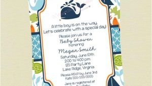 Sea themed Baby Shower Invitations Under the Sea Baby Shower Invitations Sea Creature Baby