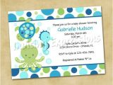 Sea themed Baby Shower Invitations Under the Sea themed Baby Shower Invites