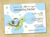 Sea Turtle Baby Shower Invitations Items Similar to Sea Turtle Baby Shower Invitations In