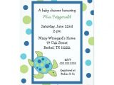 Sea Turtle Baby Shower Invitations Sea Turtle Baby Shower Invitation Boy or Girl