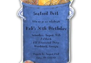 Seafood Boil Party Invitations Big Diecut Seafood Boil Party Invitations Clearance