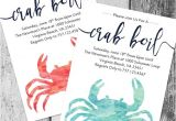 Seafood Boil Party Invitations Crab Boil Invitation Printable Crab Boil Invite by